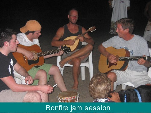 Music Jam by the bonfire